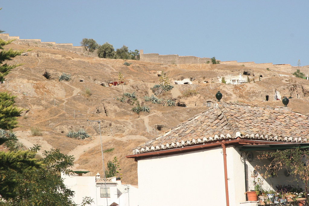 Caves line the hills around Granada, home to gypsies who outfit them with all the modern comforts of home
