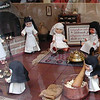 During a Muslim siege about 900 years. the city food supply diminished. The nuns at the convent invented Marzipan to help feed the citizens. To honour them, everything in this bakery display is made of marzipan