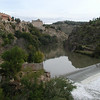 Toledo. A weir holds the river back as a reservoir.