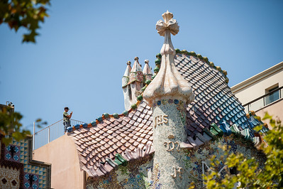 Крыша Дома Бальо (Casa Battló), Гауди