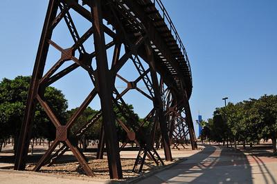 Almería - the old rails towards the harbor