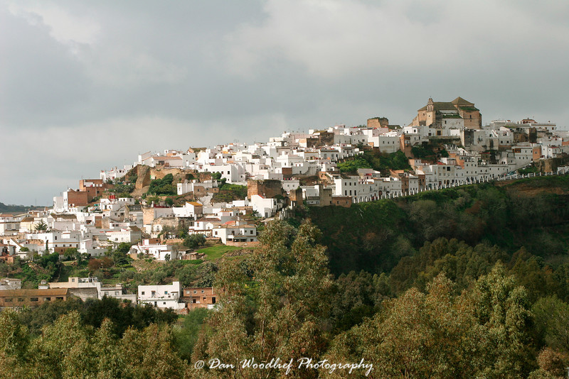 A distant view of Arcos de la Frontera.