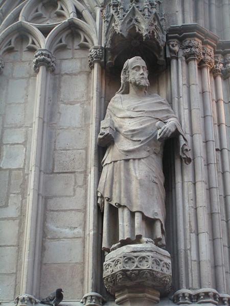 Escultura de la catedral de Barcelona