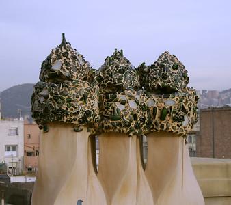 Roof at La Pedrera