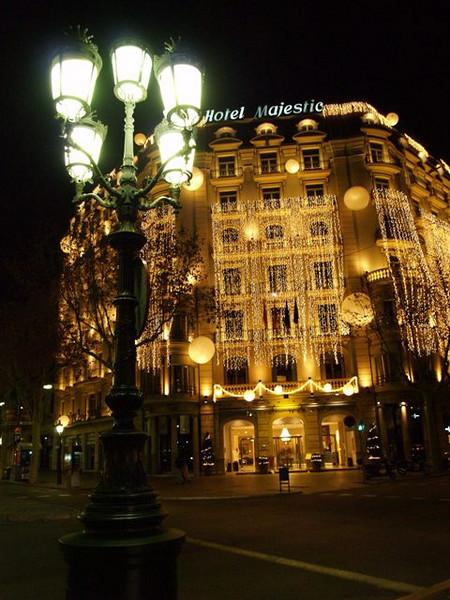 El Hotel Majestic de Barcelona en Navidad
