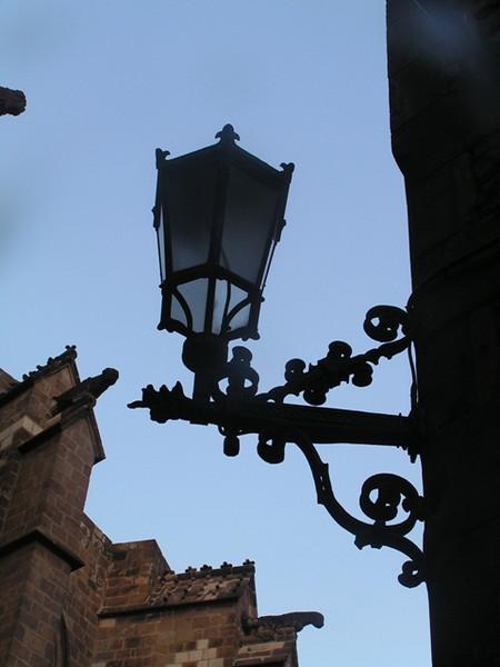 Farol del centro ciudad de Barcelona
