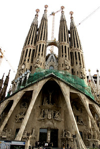 The Temple Expiatori de la Sagrada Familia or simply Sagrada Familia, Antoni Gaudí's unfinished masterpiece, is one of Barcelona's most popular tourist attractions. Construction on this church will continue at least until 2041, but it has already become Barcelona's most important landmark.