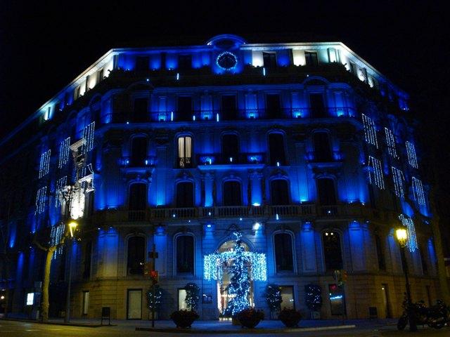 Hotel Havana iluminado en ocasion de navidad