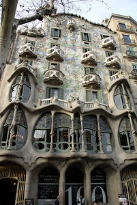 Casa Batlló was designed by Gaudí for a wealthy Barcelona Aristocrat. The lower levels were for the owner and the upper floors for renting.