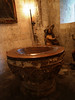 Pila bautismal en la iglesia de Santa Maria de Aranda de Duero