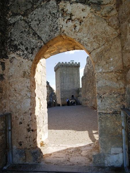 Puerta de acceso al Castillo de Peñaranda de Duero (Burgos)