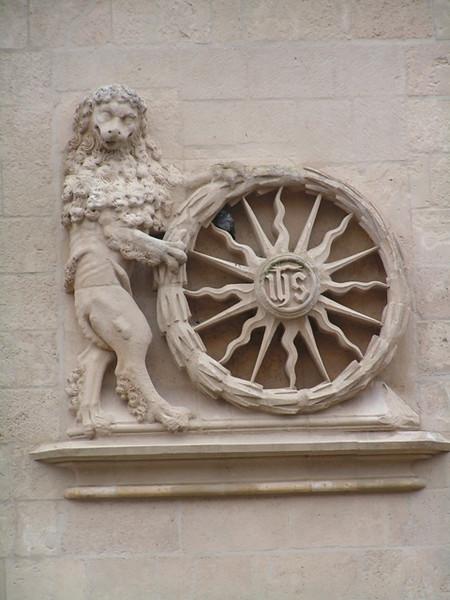 Relieve en la fachada de la catedral de Burgos