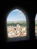 Vista de Peñaranda de Duero desde una de las ventanas del Castillo