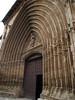 Entrada de una de las iglesias de Aranda de Duero