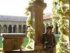 Marie en el Claustro del Monasterio de Santillana del Mar