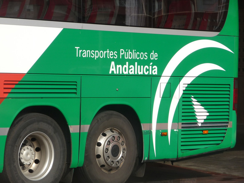 The bus we took to travel from Cartagena to Granada.