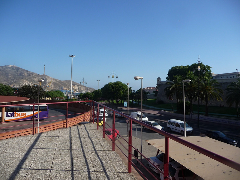 View toward the waterfront from the bus station