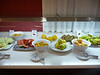 The breakfast buffet, fruit section, in our hotel, the Alfonso XIII, in Cartagena.