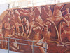 Scene from a wall mural in Cartagena