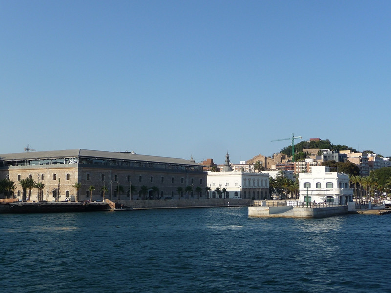 View back toward the city, with our conference building on the left, from the tourist boat on our harbor tour.