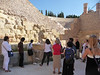 Our tour group in the Roman theater