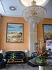 The lobby in our hotel, the Alfonso XIII, in Cartagena. Notice the painting in the background which looks just like some of my photographs showing the Roman theater and harbor!