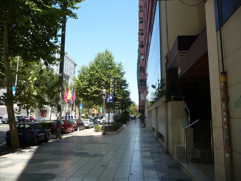 Street in front of our hotel (Alfonso Street)