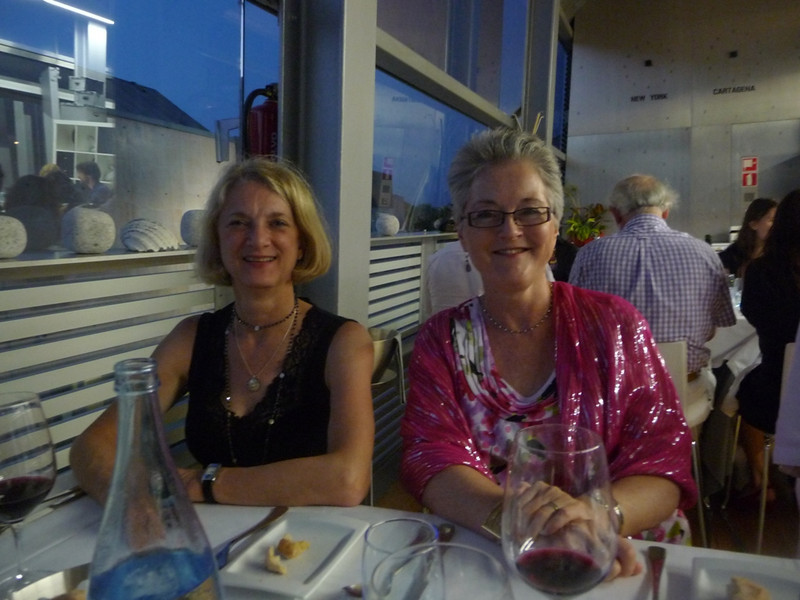 Susan and me at the Arqua restaurant for our gala farewell dinner for the conference in Cartagena