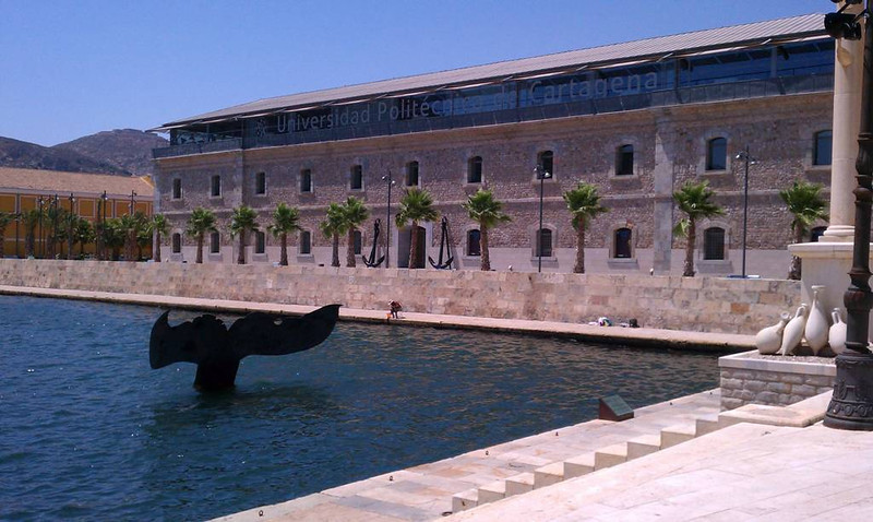 The university building where our conference was held in Cartagena. (The whale isn't real.)