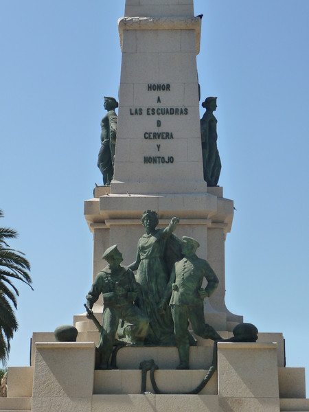 Memorial by the waterfront in Cartagena