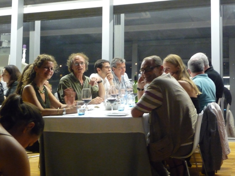 Anna Christina, Tom Heyd, and others at our conference dinner