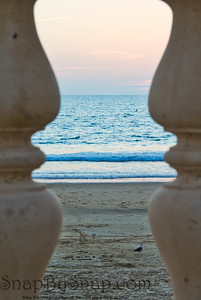 Curved Railing with the Ocean
