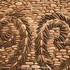 Mosaic-patterned cobblestones.