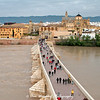 La Mezquita, the Roman Bridge, and the Guadalquivir River - Cordoba, Spain