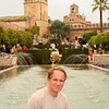 A photo of me in the gardens of the Alcazar de los Reyes Cristianos. It was in this castle that Christopher Columbus proposed his America voyage to Isabella and Ferdinand.