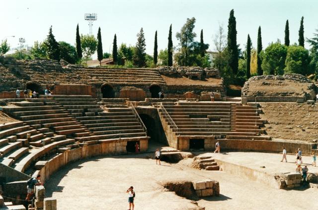 Ruinas del anfiteatro romano de Merida