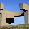 """Eulogy of the Horizon"" by Basque artist Eduardo Chillida, 1990."