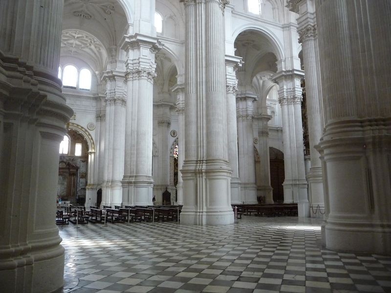 Floor and columns inside the Cathedral