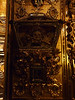 Skull in a reliquary in the Church of San Juan de Dios in Seville.