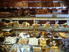 Many tempting things in a bakery in Seville!