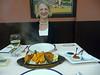 Susan at the Indian restaurant