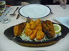 Delicious food: chicken tandoori and chicken tikka at an Indian restaurant in Granada right across from our hotel.