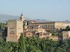 View across to the Alcazab (towers) of the Alhambra from the Albaicin