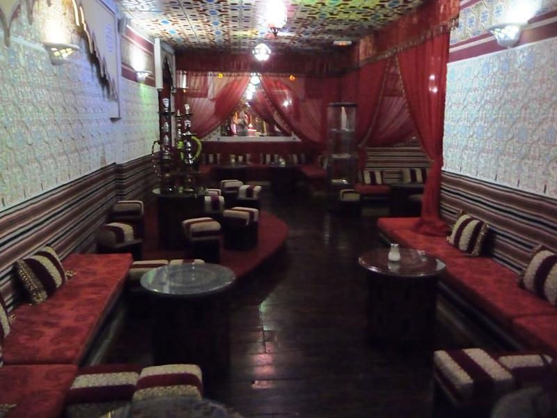Moroccan restaurant where we ate in Granada