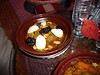 Susan's beef dish, with prunes, almonds, and eggs, in the Moroccan restaurant where we ate one night in Granada. I tasted it and it was wonderful!