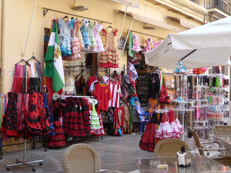 Many amazing things for sale in a little shop near the cathedral in Seville