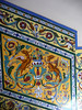 Beautiful tilework in a building entryway.
