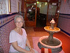 Me in the Moroccan restauarant where we ate in Granada