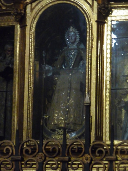 Carving of a saint in one of the chapels of the Cathedral