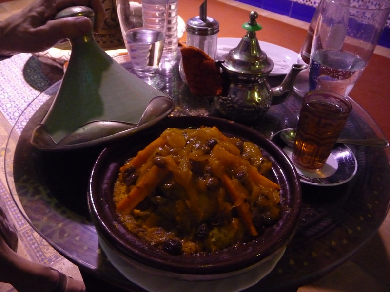 My couscous at a Moroccan restaurant where we ate in Granada. Delicious! It had olives, carrots, and a lot of good flavors!